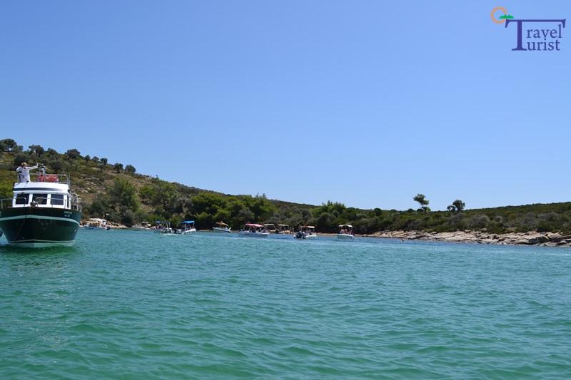 laguna albastra plajele din sithonia