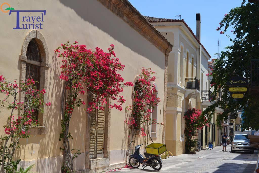 strada nafplio peloponez grecia